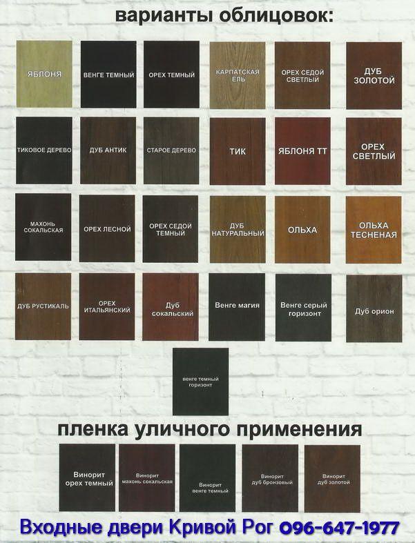 Цвет накладки МДФ на двери